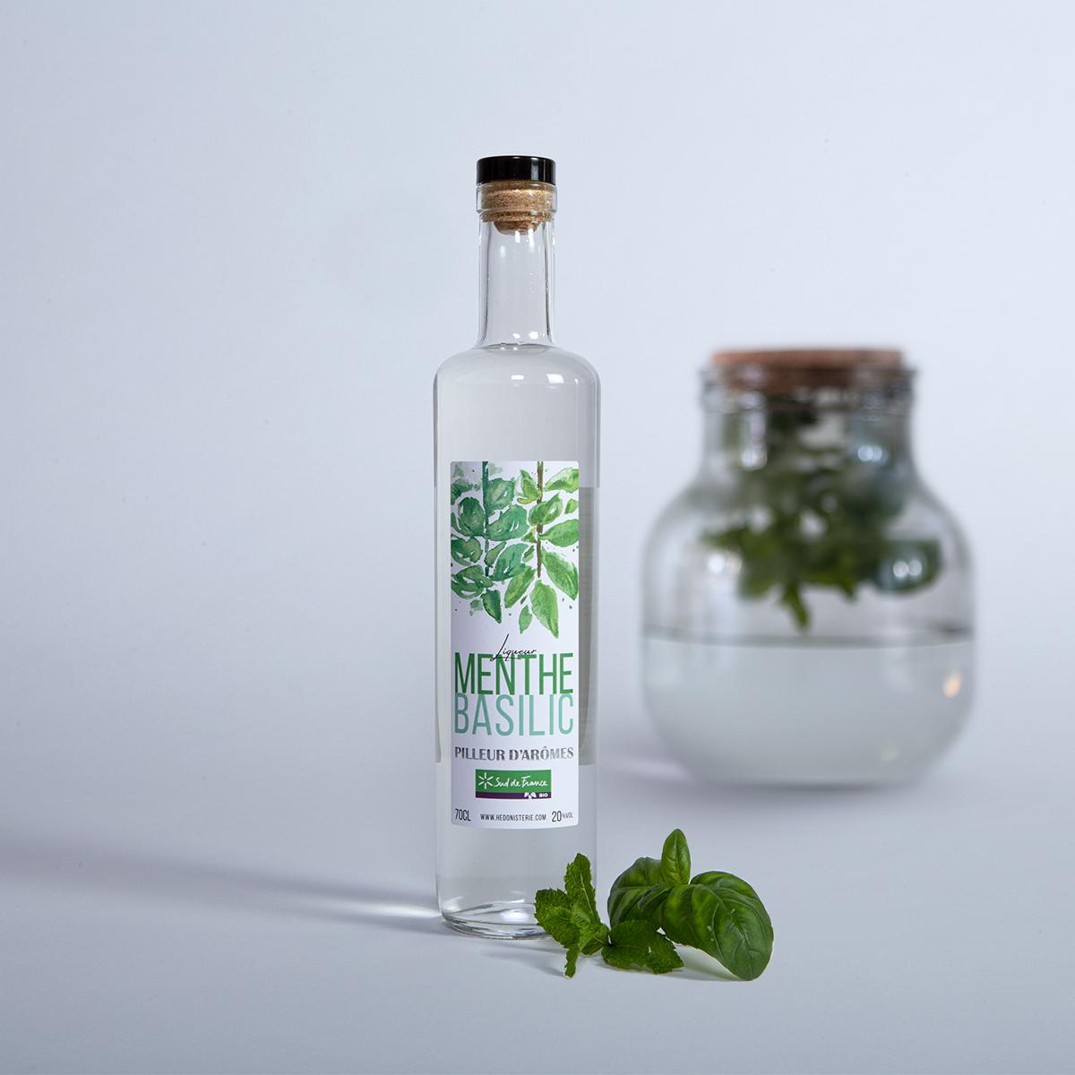 liqueur bio menthe, basilic Pilleur d'Arômes