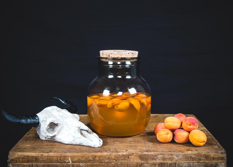 Rhum arrangé abricots rôtis