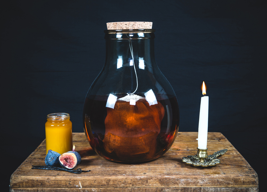 Rhum arrangé figue, vanille, miel