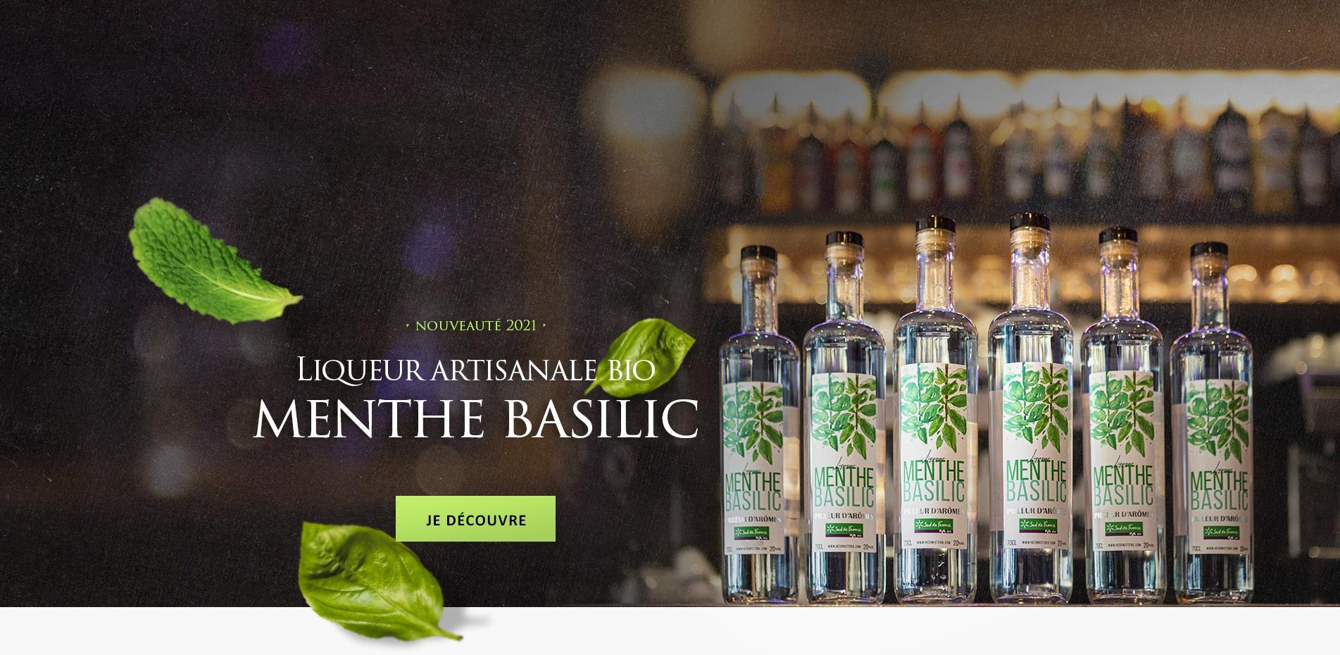 Liqueur produite artisanalement à partir d'ingrédients 100% naturels