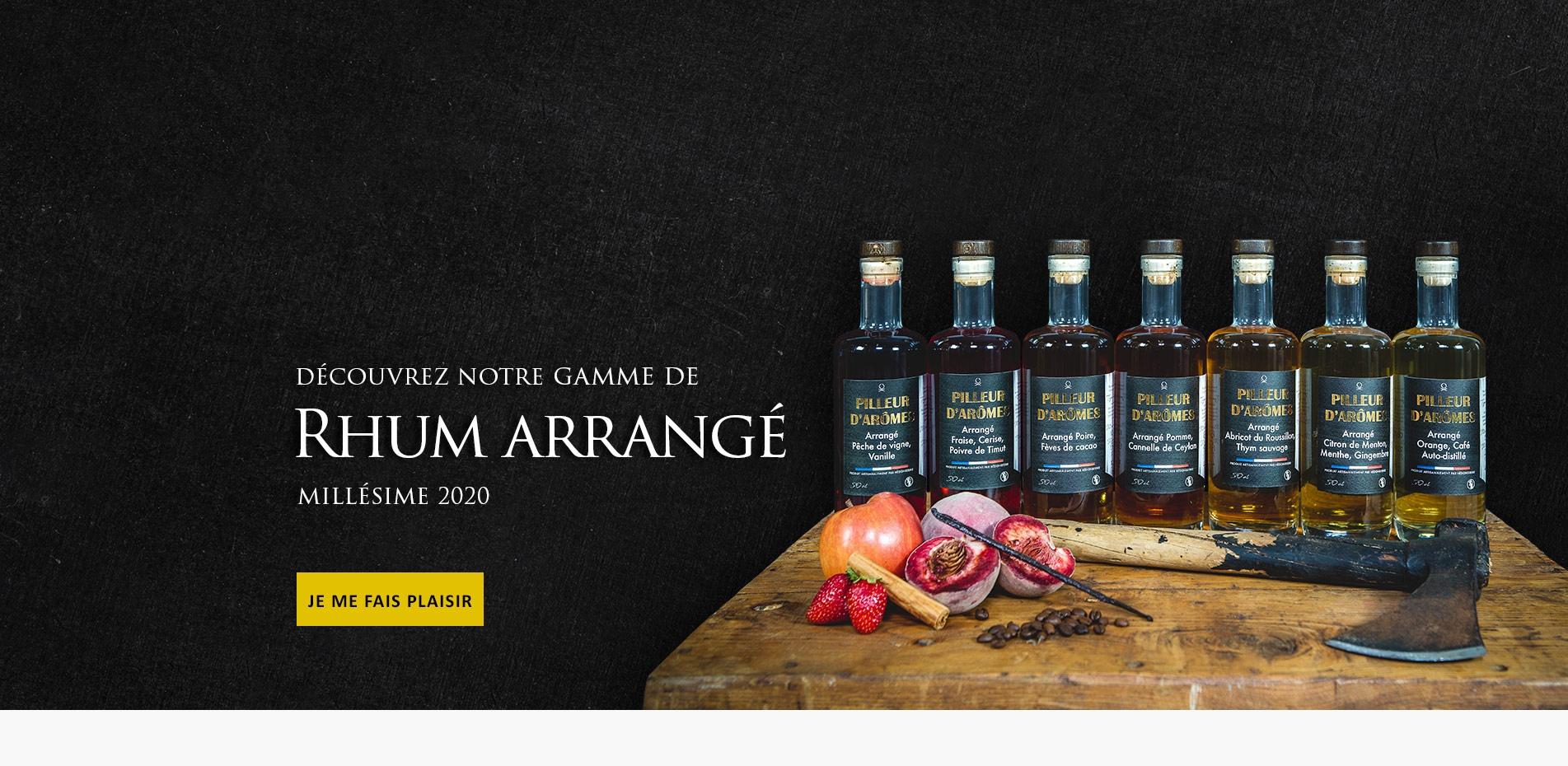 Rhum arrangé artisanal filtré Pilleur d'Arômes